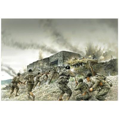 Figurines militaires D-DAY Normandie 1944/2014 : Assaut de bunker côtier - Italeri-6172