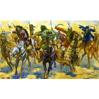 Figurines médiévales: Guerriers arabes: 1/32 - Italeri-6882