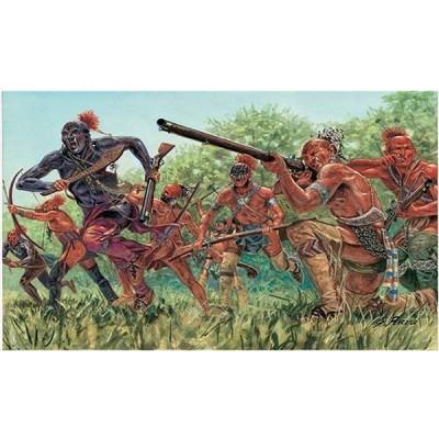 Figurines Guerre d'Indépendance: Guerriers Indiens - Italeri-6061