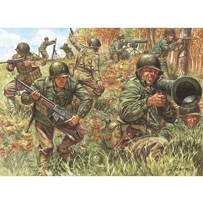 Figurines 2ème Guerre Mondiale : Infanterie américaine - Italeri-6046