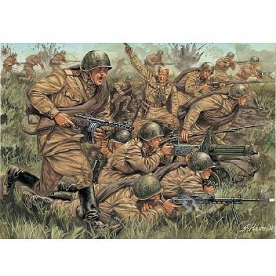 Figurines 2ème Guerre Mondiale : Infanterie Russe - Italeri-6057