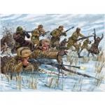 Figurines 2ème Guerre Mondiale : Infanterie Russe tenue hivernale