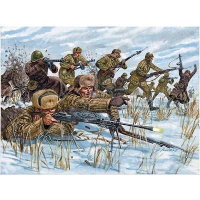 Figurines 2ème Guerre Mondiale : Infanterie Russe tenue hivernale - Italeri-6069