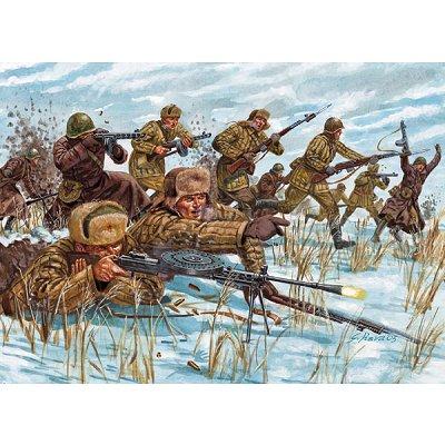 Figurines 2ème Guerre Mondiale : Infanterie Russe - Italeri-6876