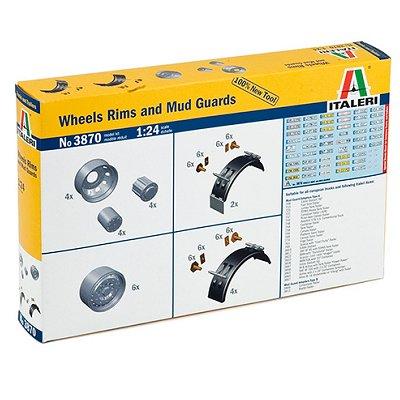 Accessoires pour camions Italeri 1/24: Jantes et garde-boue - Italeri-3870