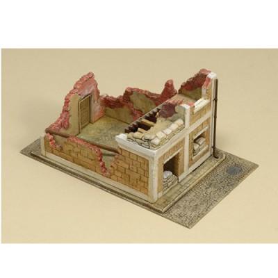 Diorama 1/72: Maison en ruine - Italeri-6161
