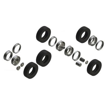 Maquette accessoires camion : Jantes et nouveaux pneus Europe - Italeri-3909
