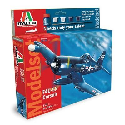 Maquette avion : Model Set : F-4U / 5N Corsair - Italeri-71044
