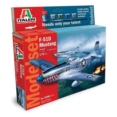 Maquette avion : Model Set : F-51D Mustang - Italeri-71086
