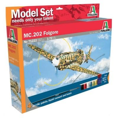 Maquette avion : Model Set : MC. 202 Folgore - Italeri-71222