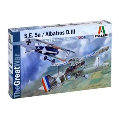 Maquette avion : S.E. 5A et Albatros DIII - Italeri-1374