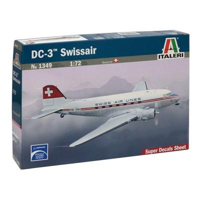 Maquette Avion 1/72 : DC-3 Swiss Air Lines - Italeri-1349