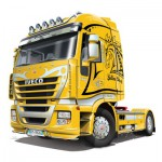 Maquette Camion : Iveco Stralis : Yellow Devil