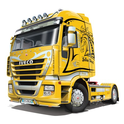 Maquette Camion : Iveco Stralis : Yellow Devil - Italeri-3898