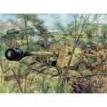 Maquette canon PaK 40 Anti Tank avec figurines