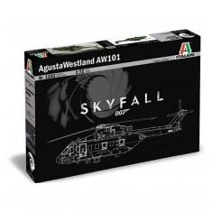 Maquette hélicoptère : James Bond 006 Skyfall AW101