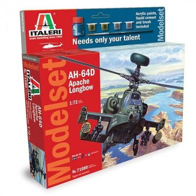 Maquette hélicoptère: Model Set : AH-64D Apache - Italeri-71080