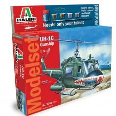 Maquette hélicoptère: Model Set: UH-1C Gunship