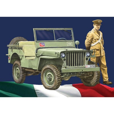 Maquette véhicule militaire : Willys Jeep Arma dei Carabinieri - Italeri-6355