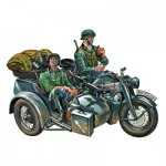Maquette véhicule militaire avec figurines : Zündapp KS750 et Sidecar