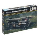 Maquette voiture 1/35 : Jeep Ambulance