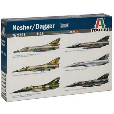 Maquettes avions : Nesher/Dagger/Mirage V - Italeri-2721