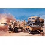 Maquette Morris Quad et canon 25pdr