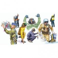 Figurines militaires: Pilotes et mécaniciens OTAN