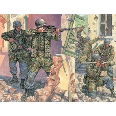 Figurines 2ème Guerre Mondiale : Parachutistes Allemands - Italeri-6045