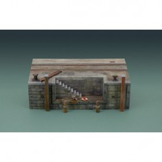 Maquette quai de port avec escalier