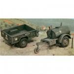 Maquettes Remorques M101 et 250 gallons