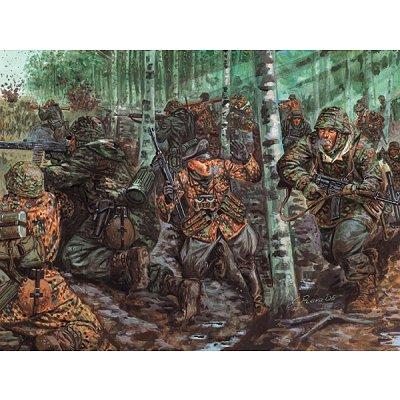 Figurines 2ème Guerre Mondiale : Troupe élite allemande - Italeri-6875