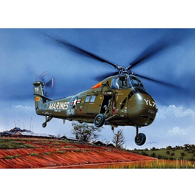 Maquette hélicoptère: UH-34 J Sea Horse - Italeri-1066