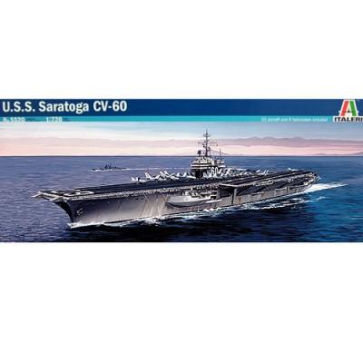 Maquette bateau: Porte-avions USS Saratoga CV-60 - Italeri-5520