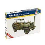 Maquette Jeep Willys avec mitrailleuse M2