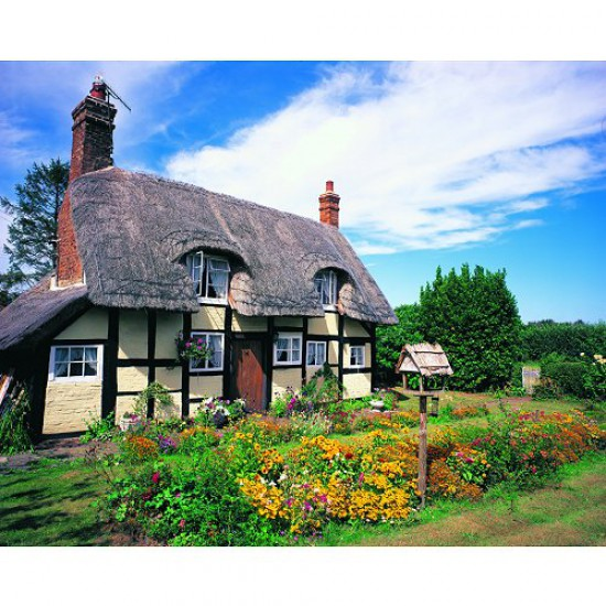 Puzzle 1000 pièces - Classic Deluxe : Cottage du Hanley Castle - Hamilton-3019