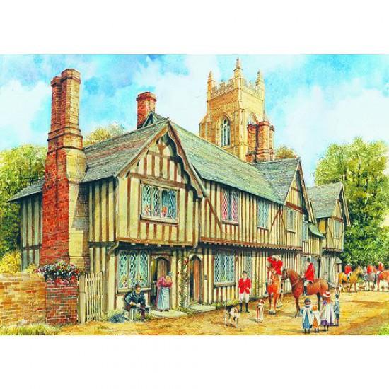 Puzzle 1000 pièces - Classic Deluxe : Maison Tudor 1 - Hamilton-3001