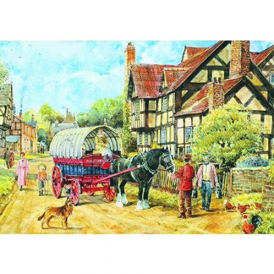 Puzzle 1000 pièces - Classic Deluxe : Maison Tudor 2 - Hamilton-3003