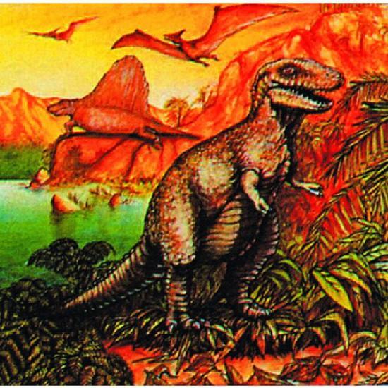 Puzzle 120 pièces carré - Dinosaures : Aux aguets - Hamilton-539-1