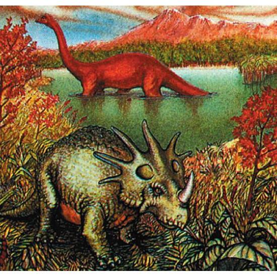 Puzzle 120 pièces carré - Dinosaures : L'heure du bain - Hamilton-539-5