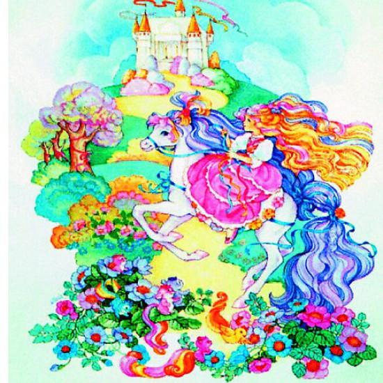 Puzzle 150 pièces carré - Lady Lovelylocks : A cheval - Hamilton-520-4