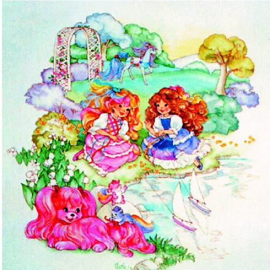 Puzzle 150 pièces carré - Lady Lovelylocks : Entre amies - Hamilton-520-2
