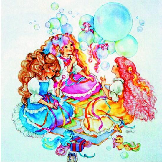 Puzzle 150 pièces carré - Lady Lovelylocks : Les bulles - Hamilton-520-3