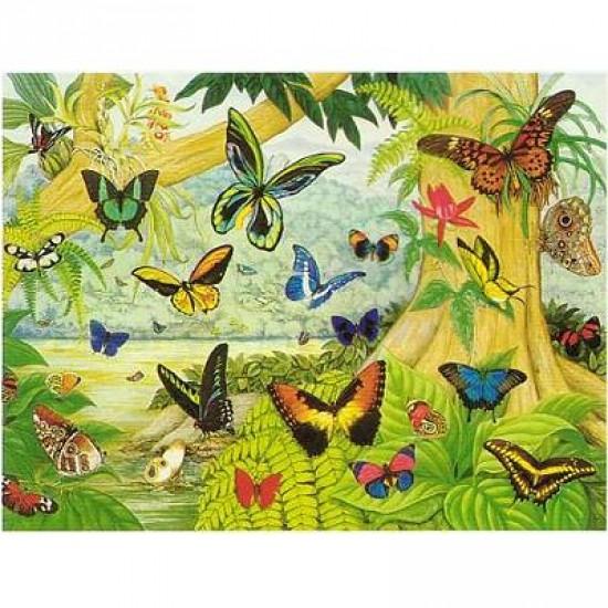 Puzzle 1500 pièces - Arc en ciel de papillons - Hamilton-FR1/1503