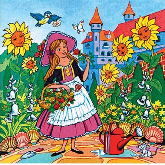 Puzzle 25 pièces - Le jardin du château - Hamilton-530-3