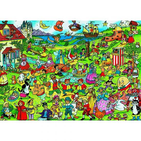 Puzzle 300 pièces - Les personnages des contes pour enfants - Hamilton-500