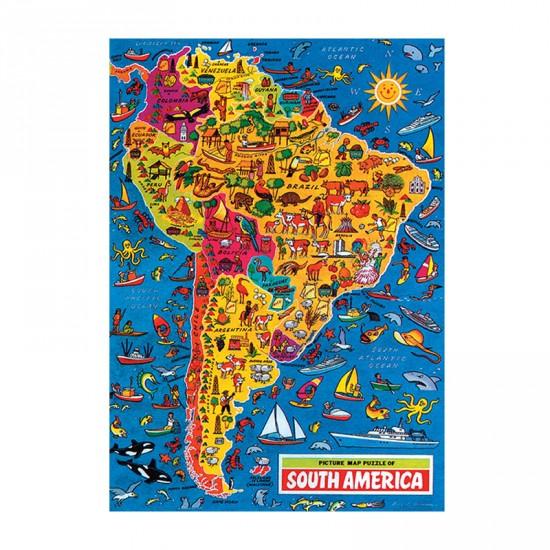 Puzzle 500 pièces - Carte des Etats Unis d'Amérique - Hamilton-1002