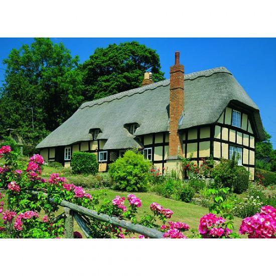 Puzzle 500 pièces - Classic Deluxe : Cottage, Eastnor - Hamilton-4001