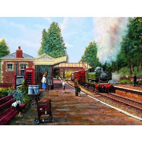 Puzzle 500 pièces - Classic Deluxe : Gare de Winchcombe - Hamilton-4022