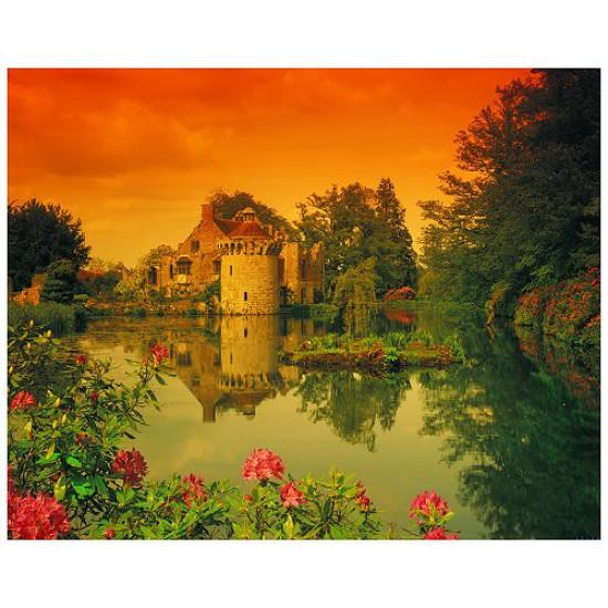 Puzzle 500 pièces - Classic Deluxe : Le château de Scotney - Hamilton-4012
